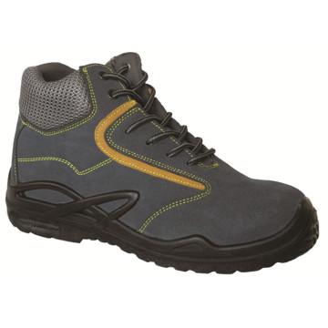 Ufa029 gamuza cuero punta de acero seguridad botas zapatos de seguridad Metalfree