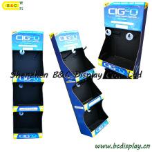 Estante de exhibición de los ganchos de la cartulina, soporte de exhibición fácil del papel del gancho, exhibición de piso de la cartulina (B & C-B038)