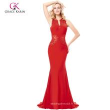 Grace Karin Grace Karin parole longueur sans manches V-Neck arrière évidé élégant élégant robe de soirée longue robe GK000121-2