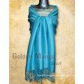 Plain color viscose/acrylic scarves