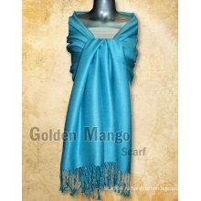 Простые цветные вискозные / акриловые шарфы