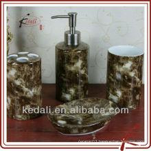 stoneware bathroom set