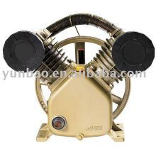 Bomba de aire de pistón V2090 de 5.5HP 8 bar / 10 bar impulsada por correa del compresor de aire