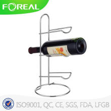 Chromed Metal Wire 3-Bottle Wine Holder