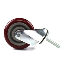 4 inch medium duty  screw  movable casters