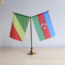 Drapeaux de bureau personnalisé mini drapeau de table