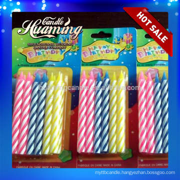 Wholesale Birthday cake candles pillar candles