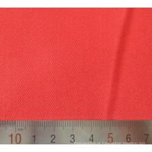 Tela tecida de sarja de algodão poliéster vermelho T/C