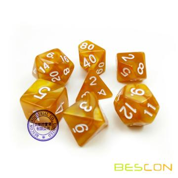 High Quality Marble Dice Set