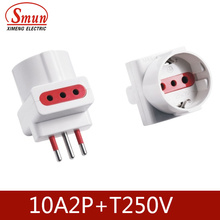 Italy Socket 3pin 250V 10/16A 2p+E