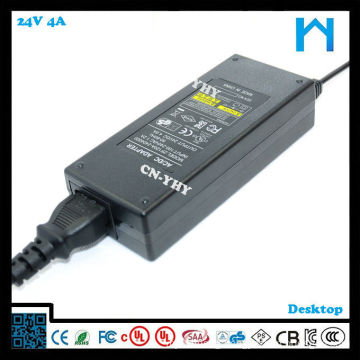 24 v power supply laptop ac power supply 96w plastic enclosures for power supply 4A