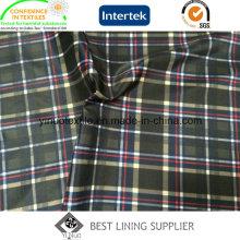 Polyester-Karomuster-Print-Futter für Herrenbekleidung