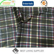 Doublure d'impression de modèle de contrôle de polyester pour les vêtements des hommes