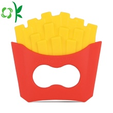 Imitation Snacks Baby Leksaker Silicone Potato Chips Teether