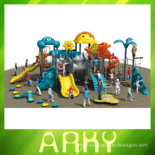 Newest animal theme outdoor play ground equipment for children slide