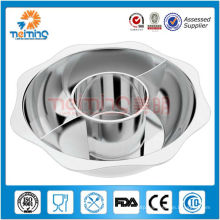 28-40cm optional size high quality stainless steel hot pot/non electric hot pot