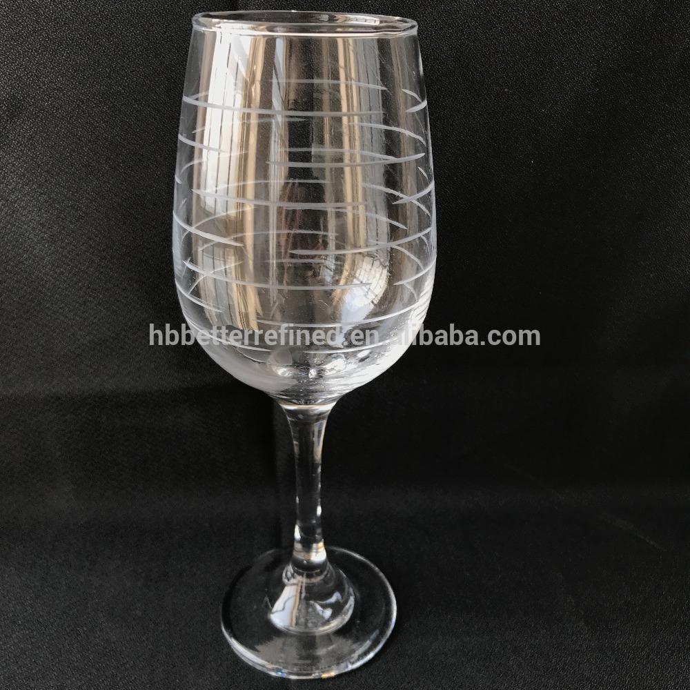 Etched Glass Goblet Wine Glass3