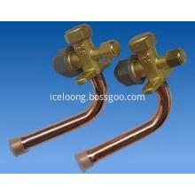 Shut-off valve split valve for air conditioner