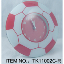 Red Football Table Clock