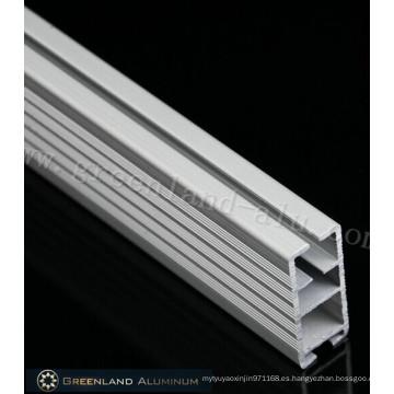 Riel inferior de aluminio de forma cuadrada de estilo pesado