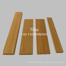 Moldura de madera de teca de diseño plano