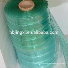 Rideaux à bande nervurée en PVC transparent