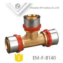 EM-F-B140 gute Qualität Tee Messing Pressfitting für PAP Rohr U-Typ