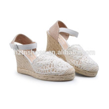 2015 spring design straw up hemp welting woman beautiful wedge sandals Suppliers