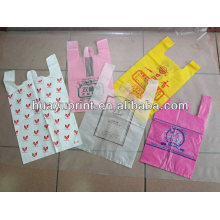 100% compostable non-pollution eco-friendly handle bags - plastic T-shirt handle bags