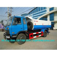 LHD / RHD Novo 4x2 roda 12m3 caminhão de resíduos caminhão de lixo de recipiente com levantador de lixo de lixo