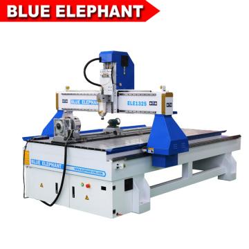 Elefante azul 1325 4 eixos cnc router redonda máquina de escultura em madeira com CE certificado