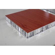 Textura de madeira painéis de favo de mel de alumínio para portas