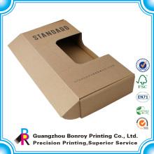 Caja de papel kraft plegable reciclada impresa para regalo y embalaje