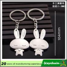 Animal de bande dessinée mignon lapin porte-clés
