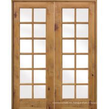 Puerta de vidrio doble Frech Patio Extry Doors