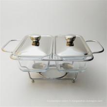 Réchauffeur de nourriture utilisé par restaurant chaffing isolé par acier inoxydable bon marché