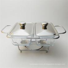 Barato Aço Inoxidável Isolado Chaffing Dish Restaurante Usado Food Warmer