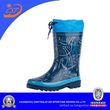 Venta al por mayor Bota de lluvia de goma de los niños de las botas (66952)