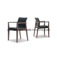 American Style Home Furniture Dining Room Leather Wooden Armchair (C-49)
