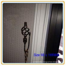 19MM Black Gold Twist End Curtain Hardware Holdbacks
