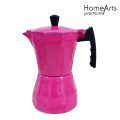 Rose Red Aluminium Stove Top Coffee Maker