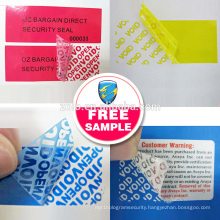 perfect custom one - off waterproof adhesive PET asset labels