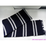 Black Knitted Scarf/Jacquard Knitted Scarf (HYS00039)