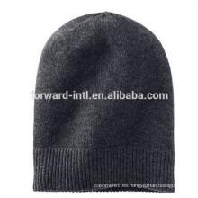 sombrero de cachemira de punto de invierno de alta calidad