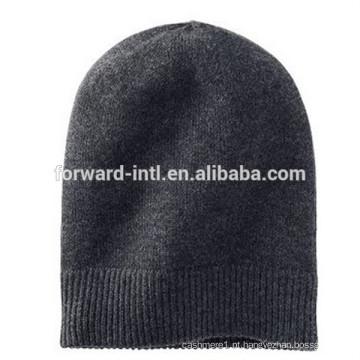 chapéu de cashmere de malha de inverno de alta qualidade