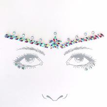 Selbstklebende kundenspezifische preiswerte Kunst Schmucksache-Edelstein-Gesichts-Kristallaufkleber