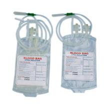 Preiswerte einzelne doppelte sterile medizinische wegwerfbare Blut-Tasche