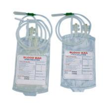 Sac de sang jetable médical stérile simple double bon marché