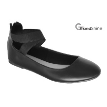 Women′s Flat Ballet Elastic Belt Casual Shoes