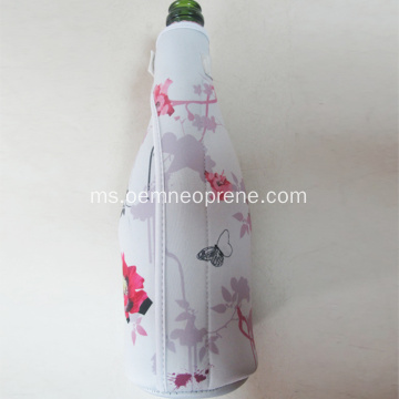 Percetakan Warna Penuh Neoprene Champagne Bottle Coolers